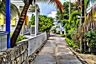 Coconuts Digital Art - Hopetown Backstreet by Carey Chen