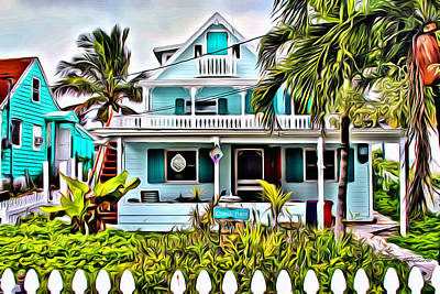 Hopetown Homes Print by Anthony C Chen