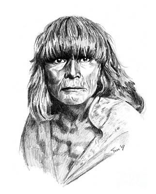 Hopi Drawing - Hopi Man 1921 by Toon De Zwart