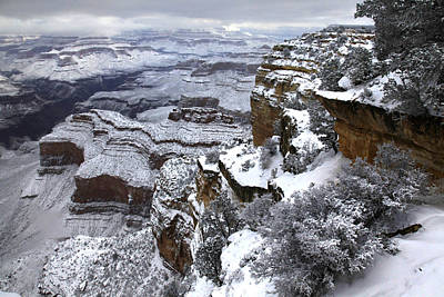 Hopi Photograph - Hopi Pont Snowscape by Mike Buchheit