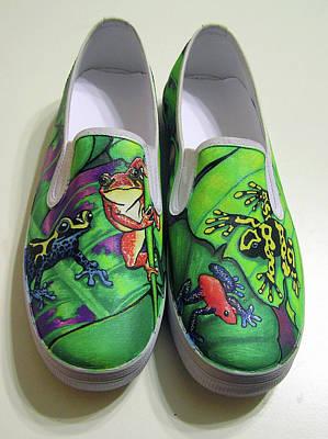 Hoppy Shoes Print by Adam Johnson