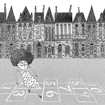 Hop Drawing - Hopscotch  by Andrew Hitchen