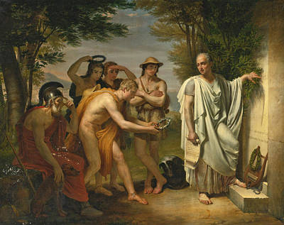 Painting - Horace At The Tomb Of Virgil by Jean-Bruno Gassies