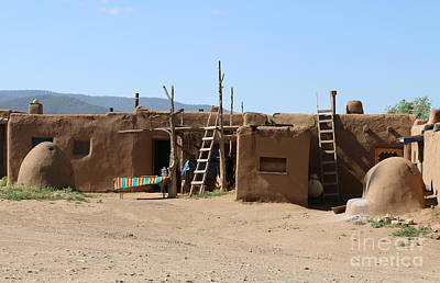 Hornos At Taos Pueblo Print by Christiane Schulze Art And Photography