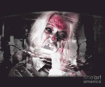 Horror Cars Photograph - Horror Fast Food. Drive Thru Zombie Apocalypse by Jorgo Photography - Wall Art Gallery