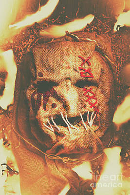 Stitches Photograph - Horror Scarecrow Portrait by Jorgo Photography - Wall Art Gallery
