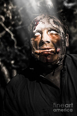 Bizarre Photograph - Horror Zombie With Finger Food. Bad Taste by Jorgo Photography - Wall Art Gallery