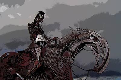 Horse And Rider Print by Bill Kellett