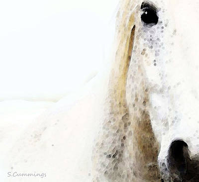 Blonde Digital Art - Horse Art - Waiting For You  by Sharon Cummings