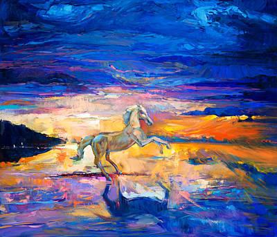 Textured Horse Art Drawing - Horse by Boyan Dimitrov