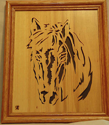 Scroll Saw Sculpture - Horse Head by Russell Ellingsworth