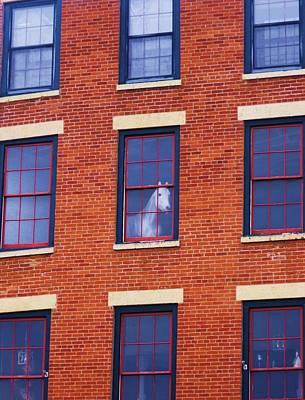 Horse In An Upstairs Window Print by Anna Villarreal Garbis