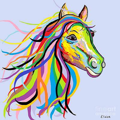 Colorful Painting - Horse Of A Different Color by Eloise Schneider