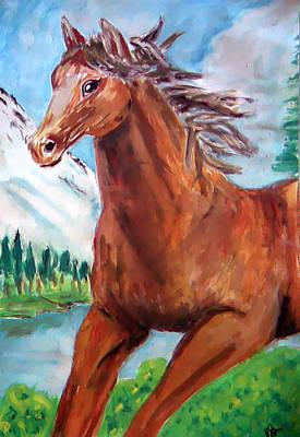 Horse Painting Print by Bekim Axhami