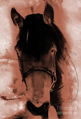 Horse Painting - Horse Portrait 02o by Gull G
