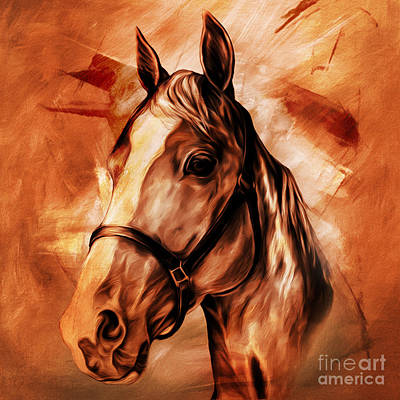 Horse Painting - Horse Portrait 092 by Gull G