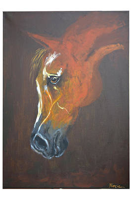 Horse Painting - Horse Portrait 2 -  By Diana Van by Diana Van