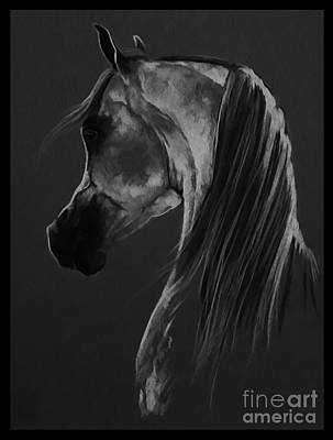 Horse Painting - Horse Portrait 901 by Gull G