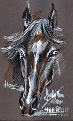Horse Study Print by Daliana Pacuraru