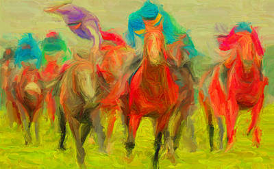 Horse Tracking Print by Caito Junqueira