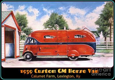 Lexington Drawing - Horse Van by David Neace