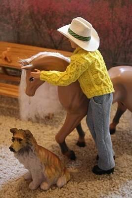 Horse Whisperer Print by Christine Ward