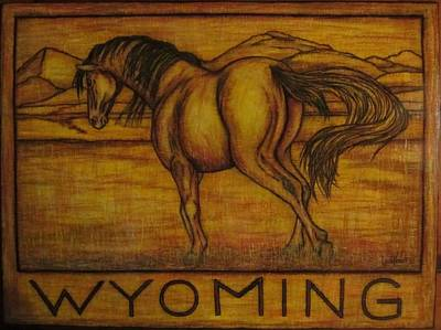 Horse Drawing - Horse Wyoming by Lauri Kraft