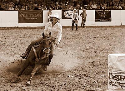 Barrel Racing Photograph - Horsepower by Bill Keiran