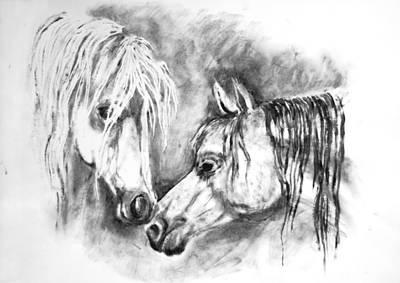 Animal Painting - Horses 1 -  By Diana Van by Diana Van