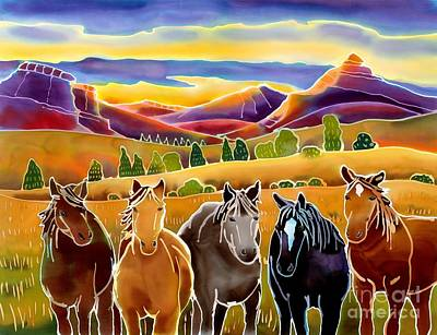 Wyoming Painting - Horses At First Light by Harriet Peck Taylor