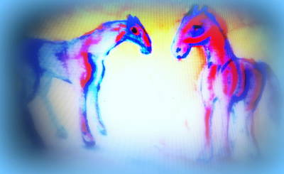 Vary Painting - Horses O  by Hilde Widerberg