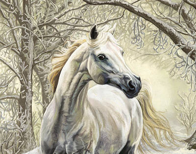 Pastel - Horses Of The Four Seasons - Winter by Kim McElroy