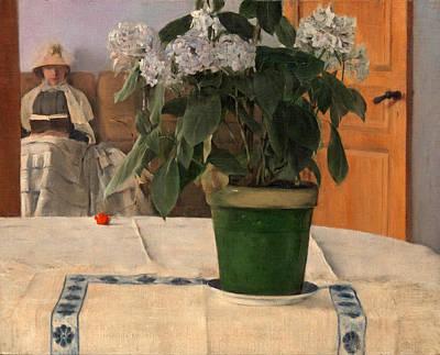 Fernand Khnopff Painting - Hortensia by Fernand Khnopff