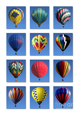 Compilation Photograph - Hot Air Balloon Poster by Olivier Le Queinec