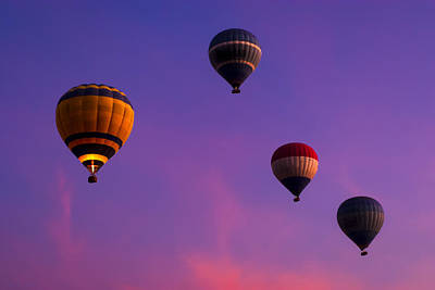 The King Photograph - Hot Air Balloons Floating Over Egypt by Mark E Tisdale