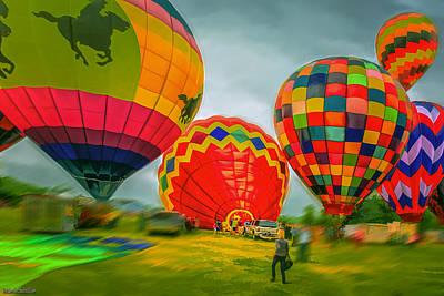 Balloon Photograph - Hot Air  by LeeAnn McLaneGoetz McLaneGoetzStudioLLCcom