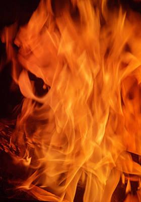 Hot Blazing Fire Print by Garry Gay