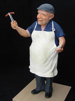 Hot Dog Man Original by Scott Russo