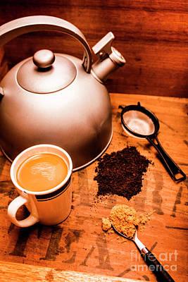 Indoor Photograph - Hot Drink Details. Tea Print by Jorgo Photography - Wall Art Gallery