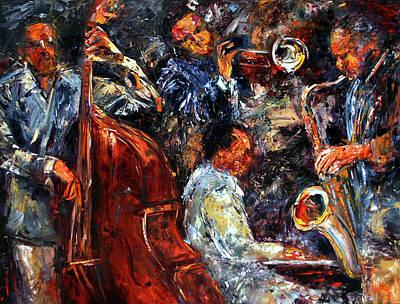Trumpet Painting - Hot Jazz Three by Debra Hurd