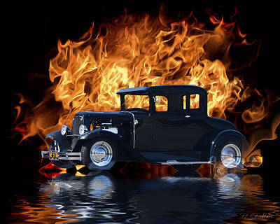 Flaming Digital Art - Hot Rod by Patricia Stalter