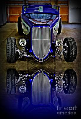 Hot Rod Reflection Print by Perry Webster