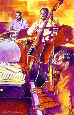 Hot Sessions - Count Basie Print by David Lloyd Glover