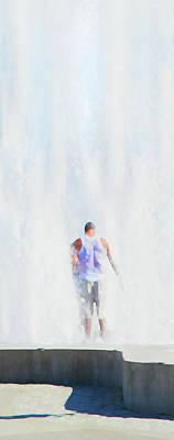 Hot Summer Cool Down Print by Theresa Tahara