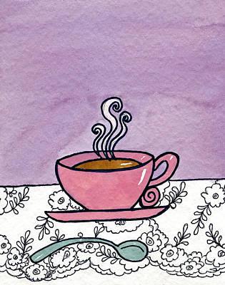 Hot Tea Print by Norma Appleton