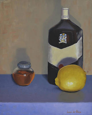 Alternative Medicine Painting - Hot Toddy Ingredients by Leana De Villiers