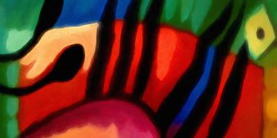 Mood Painting - Hot Tropico by Lutz Baar
