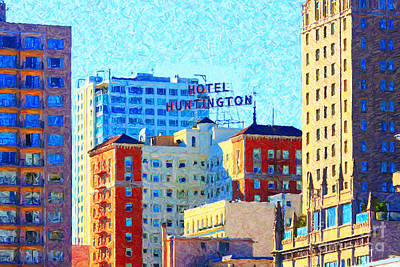 Wingsdomain Digital Art - Hotel Huntington by Wingsdomain Art and Photography