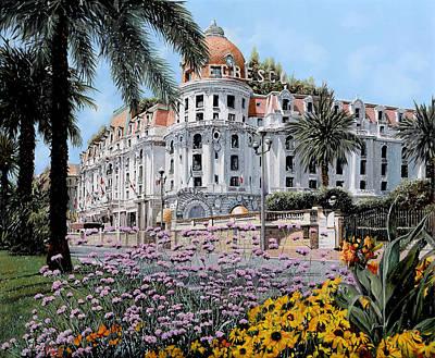 Nice Painting - Hotel Negresco  by Guido Borelli