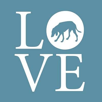 Coonhound Digital Art - Hound Dog Love by Nancy Ingersoll